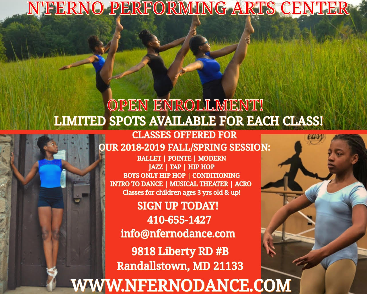 N'ferno Dance Performing Arts Center Open Enrollment