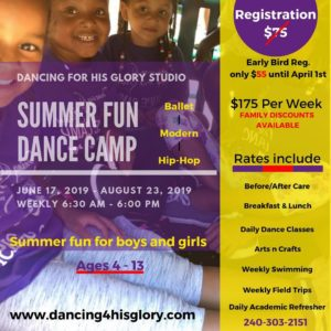 Dancing For His Flory Summer Fun Dance Camp