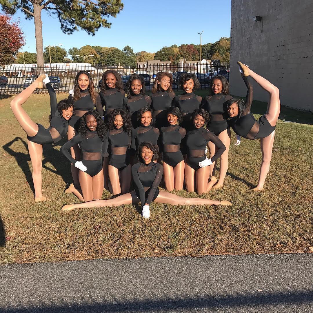 Formation: Royal Elegance Dance Team of Kings Fork High School